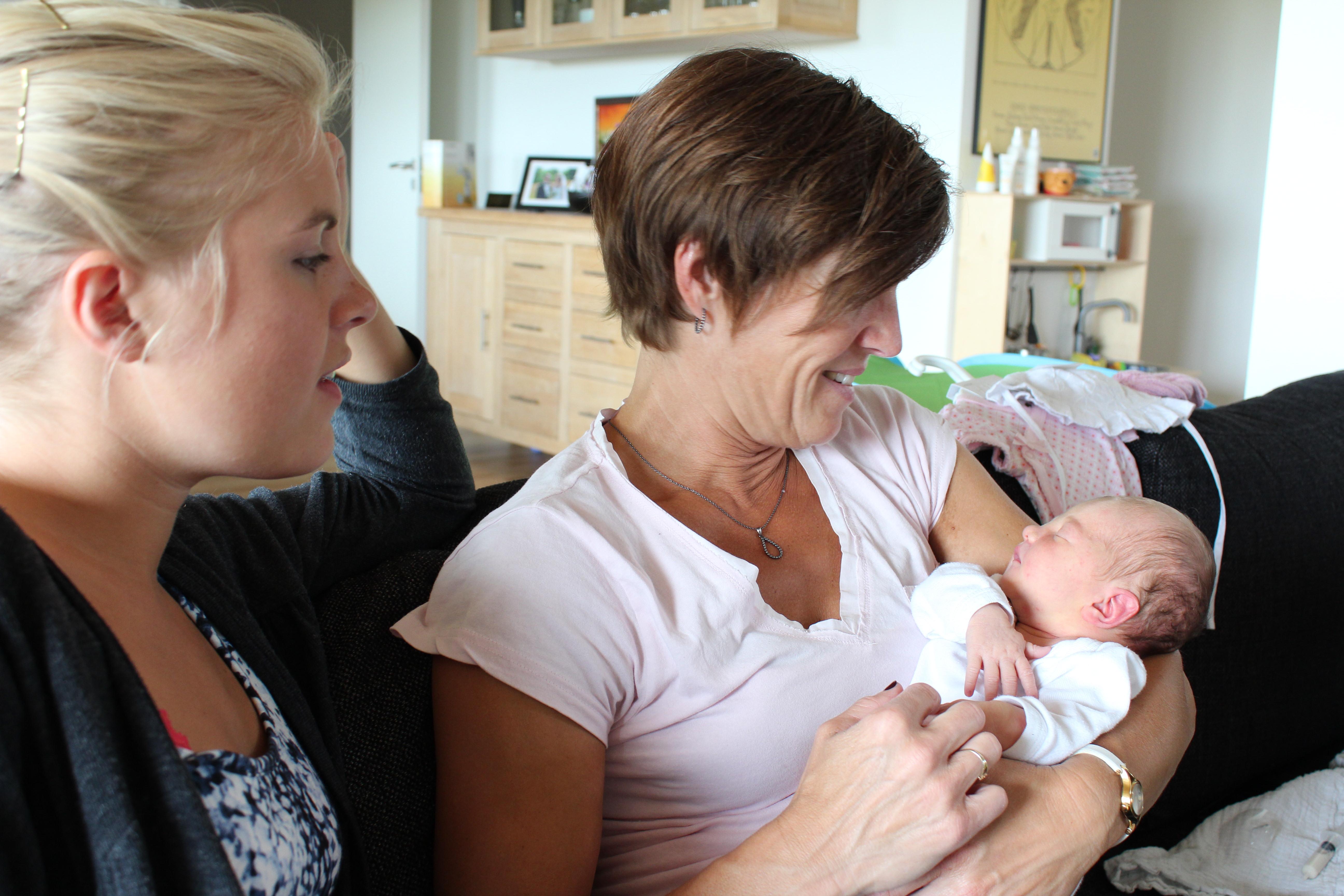 Julie sammen med Eva og Line